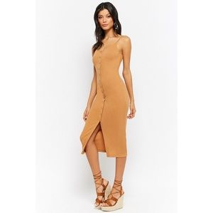 Dresses & Skirts - Buttoned Ribbed Cami Dress